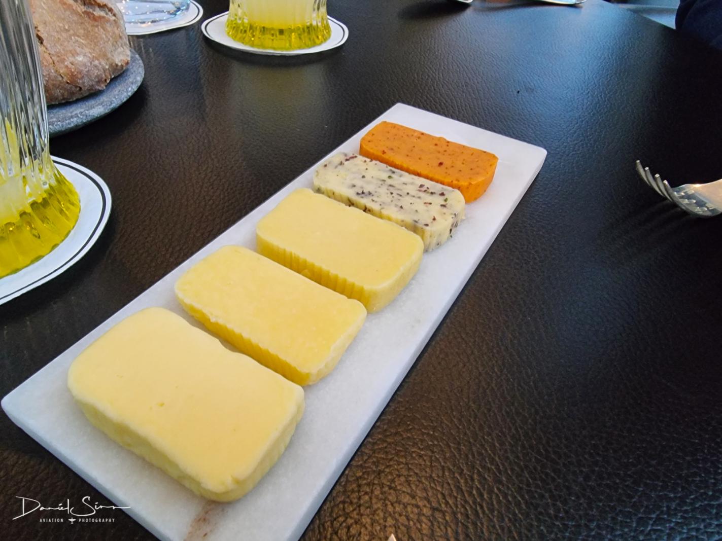 Butterauswahl zum hausgemachten Brot